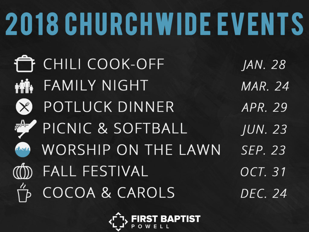 Churchwide Events 2018