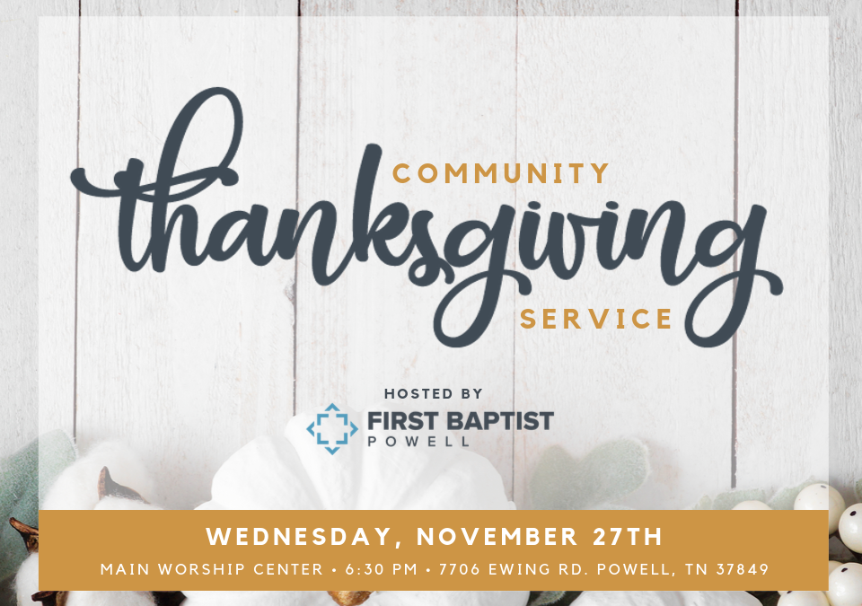 Community Thanksgiving Service
