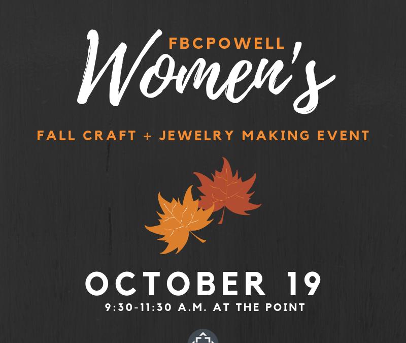 Women's Fall Craft + Jewelry Making Event