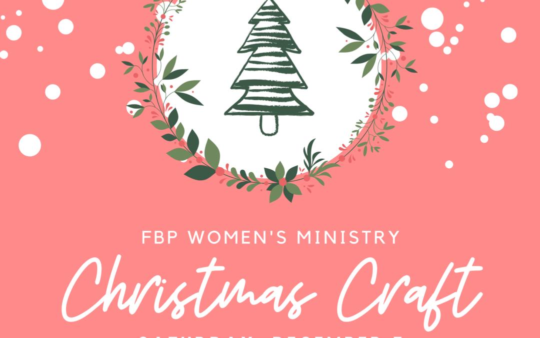 Women's Christmas Craft