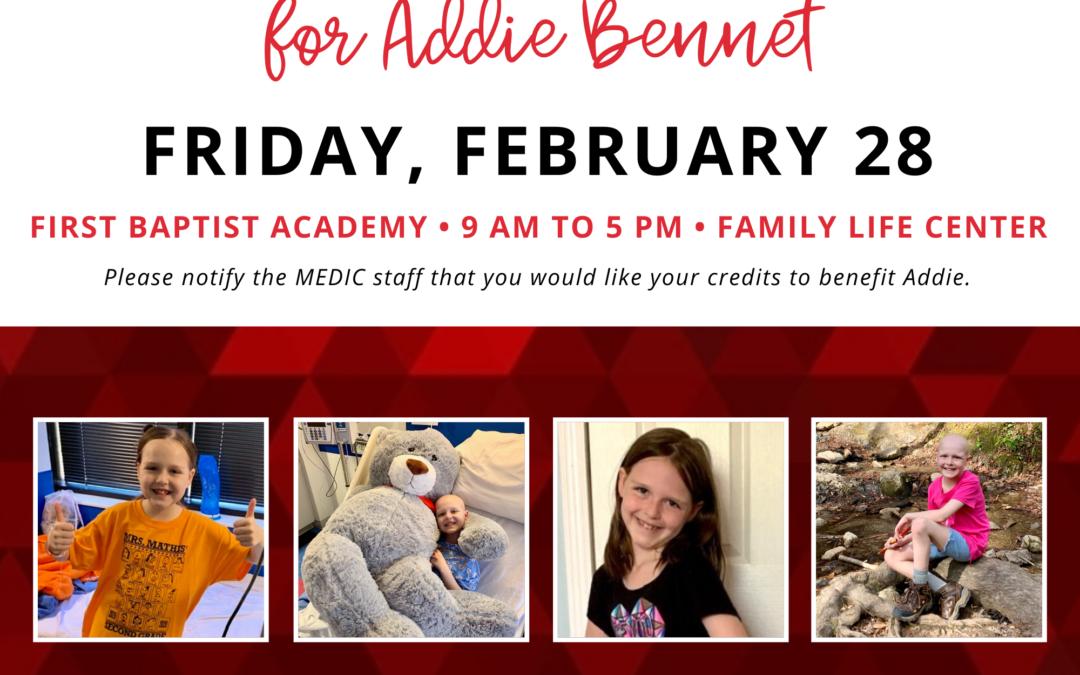 Blood Drive for Addie Bennet