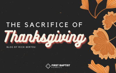The Sacrifice of Thanksgiving